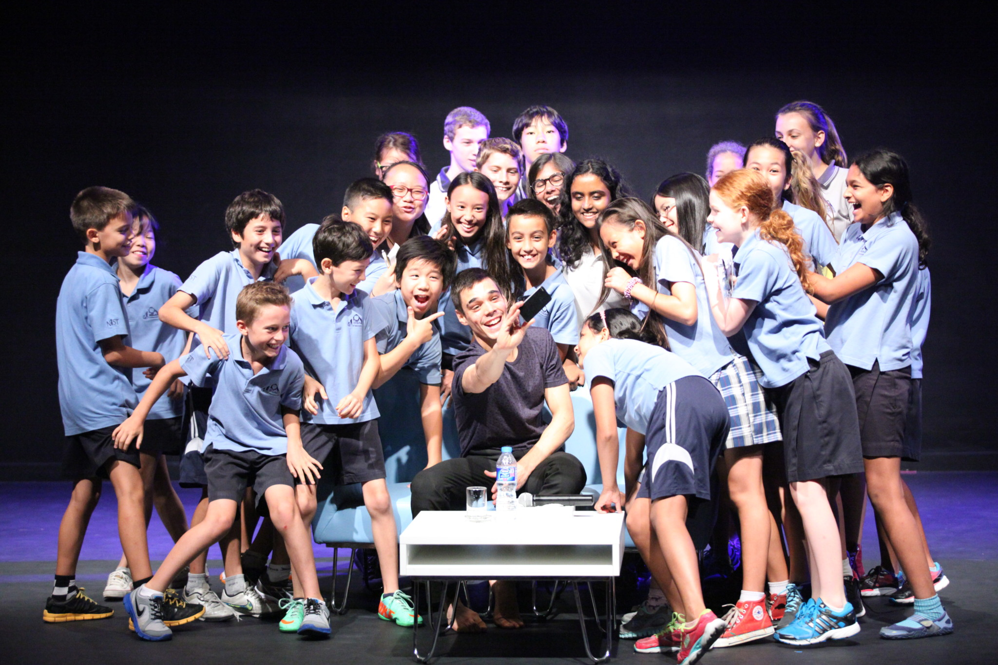 Dance performer David Pereira at NIST International School in Bangkok