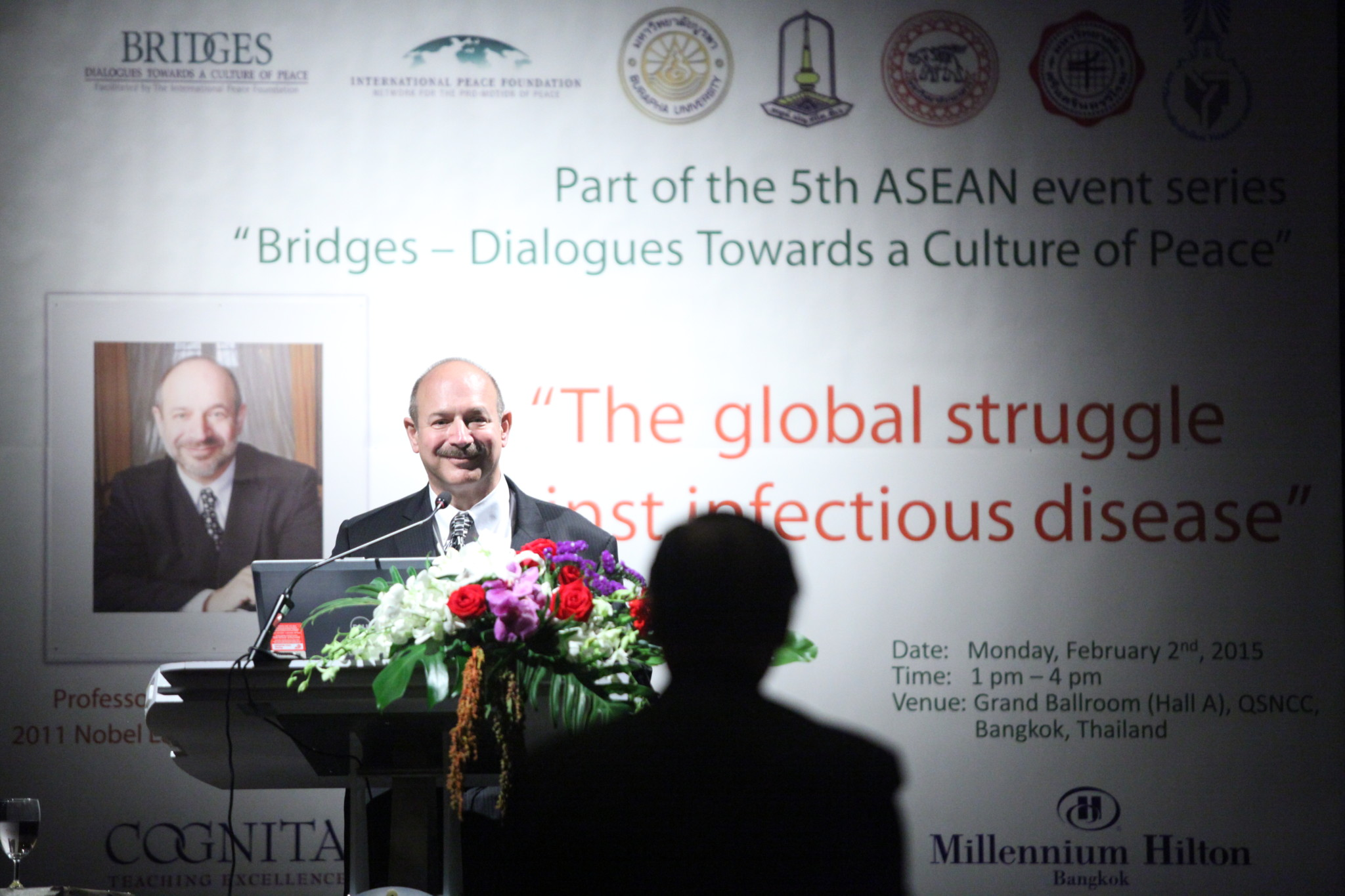 Medicine Nobel Laureate Prof. Bruce A. Beutler at Queen Sirikit National Convention Center in Bangkok