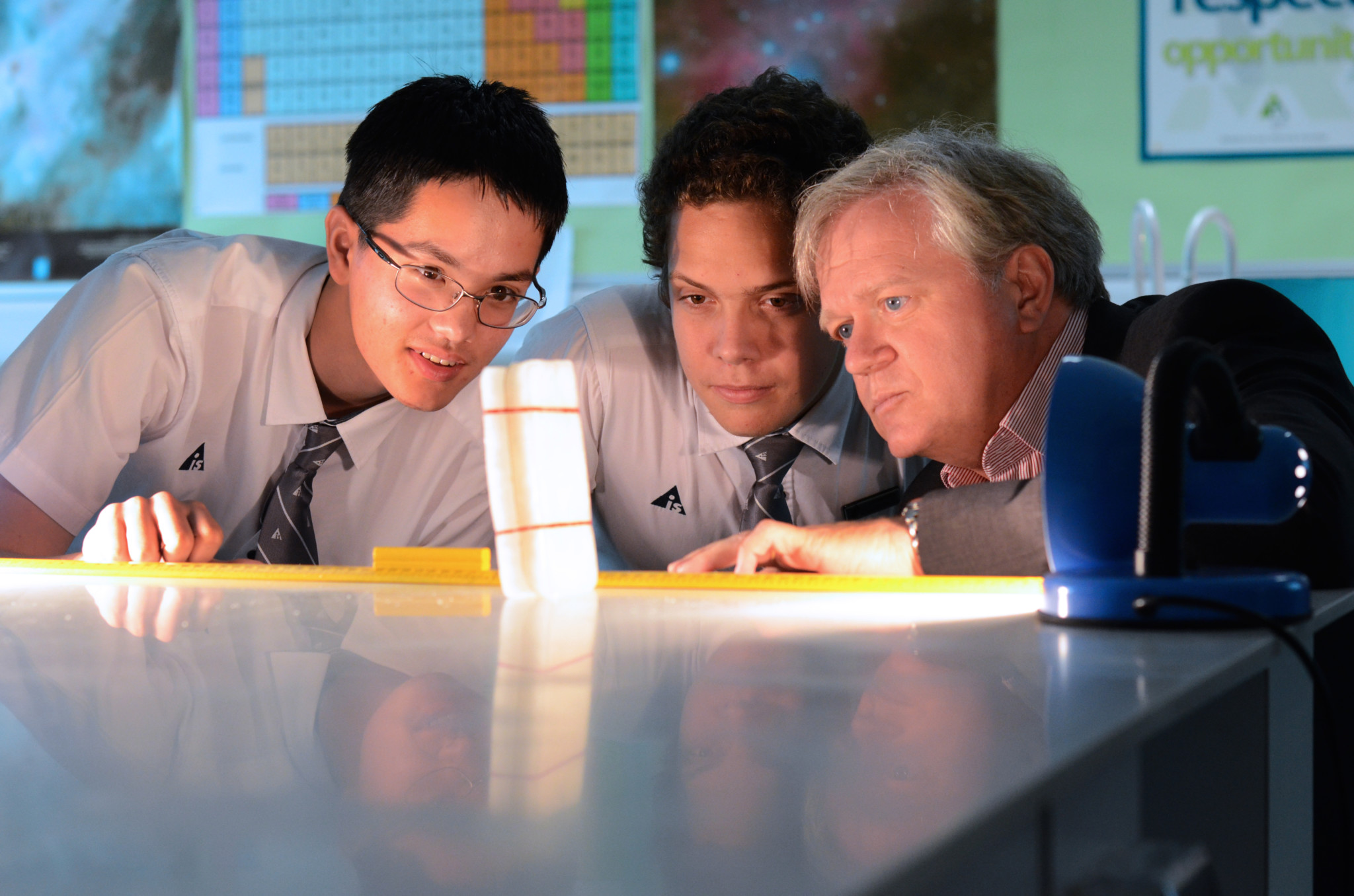 Physics Nobel Laureate Prof. Brian P. Schmidt during a physics master-class at the Australian International School