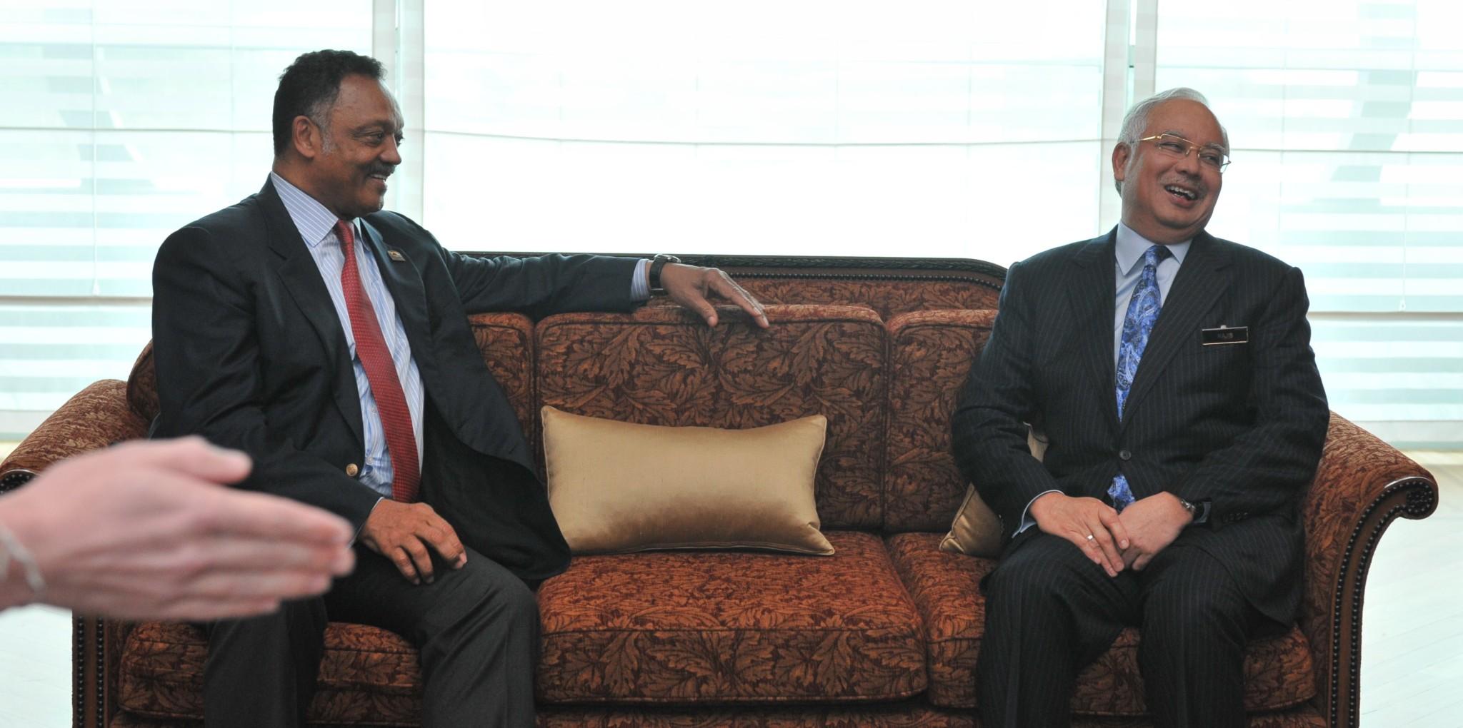Rev. Jesse L. Jackson with HE Dato' Sri Mohd Najib Tun Abdul Razak, Prime Minister of Malaysia